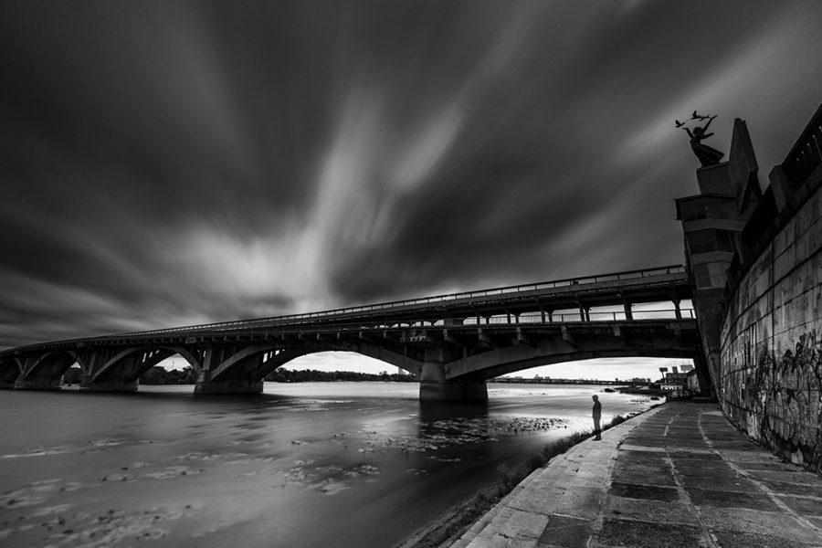 Ukraine, Kiev, Dnipro, Metro Bridge, 2017, Neutral Density Filter