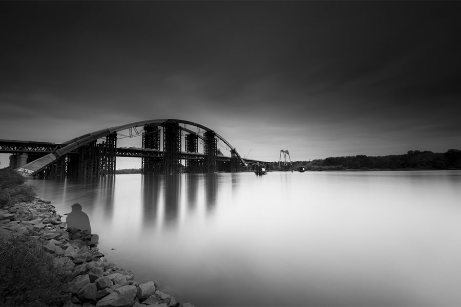 Ukraine, Kiev, Dnipro, Havansky Bridge, 2017, Neutral Density Filter