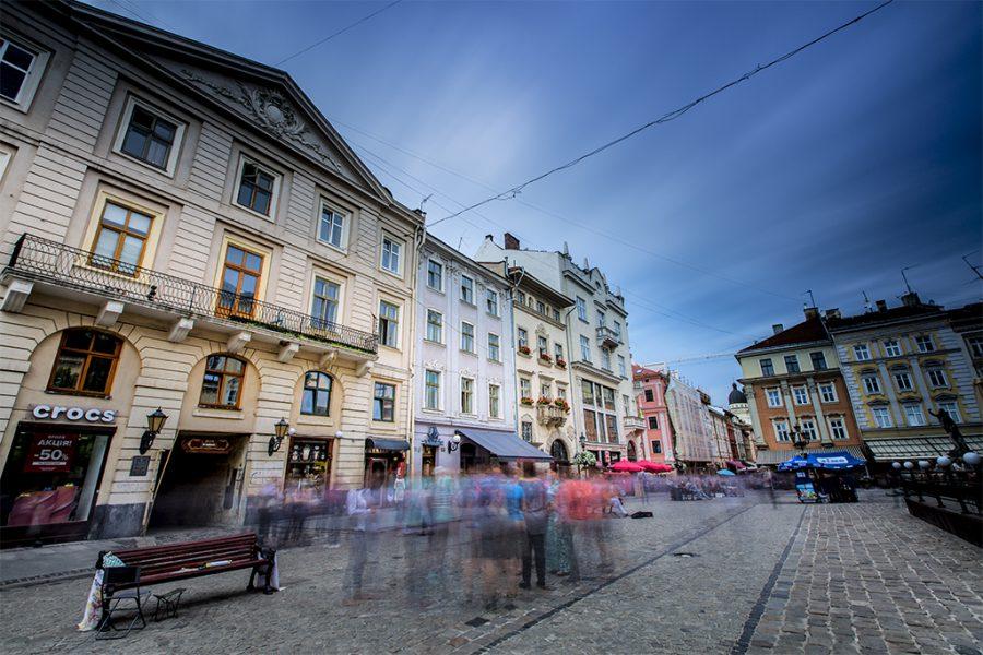 Ukraine, Lviv, Rynok Square, 2017, Neutral Density Filter