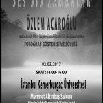 İstanbul, Kemerburgaz Üniversitesi sunum ve söyleşi