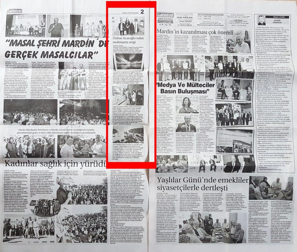 Ses'sis Zamanlar Mardin Müzesi Hakimiyet Gazetesi
