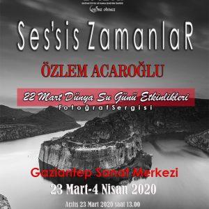 Sergiler Kişisel - Ses'Sis Zamanlar, Gaziantep Kültür Merkezi Afiş, 2020